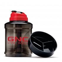 GNC Power Jug, Bidon Pentru Lichide Cu Compartiment Pentru Depozitarea Pastilelor, 2200 ml