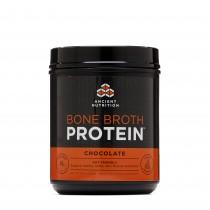 Ancient Nutrition Bone Broth Protein™, Proteina din Fiertura de Os de Pui, cu Aroma de Ciocolata, 504 g