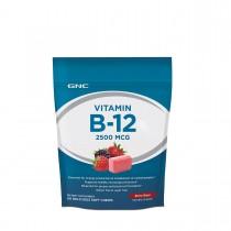 GNC Vitamina B-12 2500 mcg, 60 Caramele Delicioase cu Aroma de Fructe de Padure