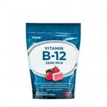 GNC Vitamina B-12 2500 mcg, cu Aroma de Fructe de Padure, 60 Caramele