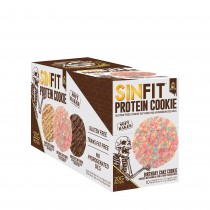 Sinister Labs SIN FIT® Protein Cookie, Biscuite Proteic, cu Aroma de Tort Aniversar, 78 g