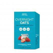 GNC Total Lean® Overnight Oats -Ovaz cu Aroma de Capsuni si Frisca, 81 g
