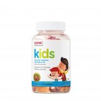 GNC Milestones® Kids Calcium Gummy, Calciu pentru Copii 2-12 ani,120 jeleuri cu Aroma de Fructe