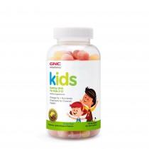 GNC Milestones® Kids Gummy DHA, Acizi Grasi Omega-3 pentru Copii 2-12 Ani, cu Aroma Naturala de Zmeura si Lamaie, 120 Jeleuri