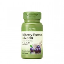 GNC Herbal Plus Bilberry Extract & Lutein, Extract de Afine si Luteina, 60 cps