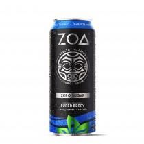 ZOA™ Energy Drink Zero Sugar  Bautura Energizanta 0 Zahar cu Aroma de Super Berry, 473ml