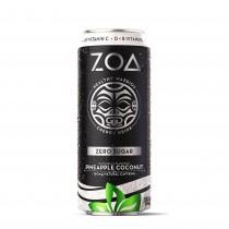 ZOA™ Energy Drink Zero Sugar  Bautura Energizanta 0 Zahar cu Aroma de Cocos si Ananas, 473ml