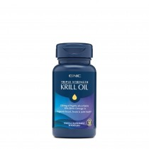 GNC Triple Strength Krill Oil, Ulei de Krill, 30 cps