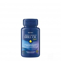 GNC Triple Strength Krill Oil Mini, Ulei de Krill, 60 cps