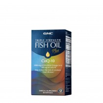 GNC Triple Strength Fish Oil Plus CoQ-10, Ulei de Peste Plus Coenzima Q-10,  60 cps