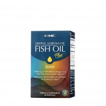 GNC Triple Strength Fish Oil Plus Joint, Ulei de Peste cu Suport Pentru Articulatii, 60 cps