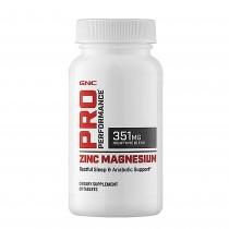 GNC Pro Performance® Zinc Magnesium, Complex de Zinc, Magneziu si Aminoacizi, 60 tb