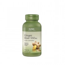 GNC Herbal Plus® Ginger Root 550 mg, Radacina de Ghimbir, 100 cps