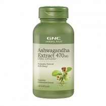 GNC Herbal Plus Ashwagandha 470 mg Extract Standardizat