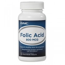 GNC Acid Folic 800 mcg, 100 Tablete Vegetale