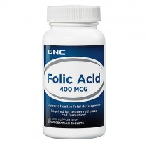 GNC Acid Folic 400 Mcg, 100 Tablete Vegetale