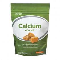 GNC Calciu 600 mg, 60 Caramele cu Aroma Naturala de Caramel