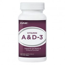 GNC Vitamina A 5000 IU si Vitamina D-3 400 IU, 100 Capsule Gelatinoase Moi