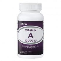 GNC Vitamina A 10.000 UI, 100 Capsule Gelatinoase