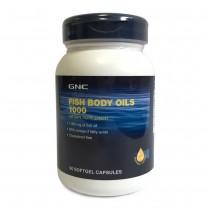 GNC Ulei de Peste 1000 mg Fara Colesterol, 90 Capsule Gelatinoase