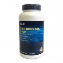 GNC Fish Body Oil 1000 mg, Ulei de Peste, 180 cps