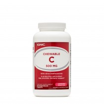 GNC Chewable C 500 mg, Vitamina C Masticabila, 90 tb