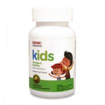 GNC Kids Milestones Omega-3 pentru Copii, 60 Jeleuri Cu Aroma Naturala de Lamaie si Capsuni