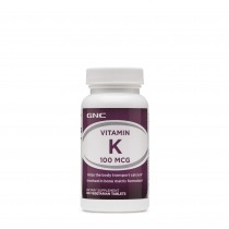 GNC Vitamin K 100 mcg, Vitamina K, 100 Tablete Vegetale