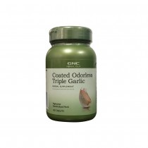 GNC Herbal Plus® Coated Odorless Triple Garlic, Usturoi cu Invelis Inodor, 100 tb