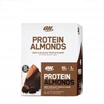 Optimum Nutrition Protein Almonds, Migdale Proteice, cu Aroma de Ciocolata Neagra si Trufe, 43 g