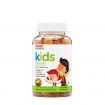 GNC Milestones Kids DHA Acizi Grasi Omega-3 pentru Copii 2-12 Ani, 120 Jeleuri cu Aroma Naturala de Zmeura si Lamaie
