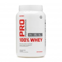 GNC Pro Performance® 100% Whey, Proteina din Zer,  Fara Aroma, 840g