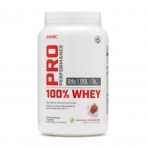 GNC Pro Performance® 100% Whey, Proteina din Zer, cu Aroma Naturala de Capsuni, 955 g