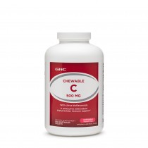 GNC Chewable C 500 mg, Vitamina C Masticabila, 180 tb