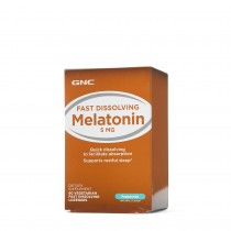 GNC Melatonina 5 mg cu Aroma de Menta, 60 Tablete Vegetale