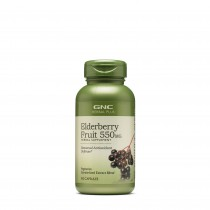 GNC Herbal Plus® Elderberry Fruit 550 mg, Extract Standardizat din Fructe de Soc, 100 cps