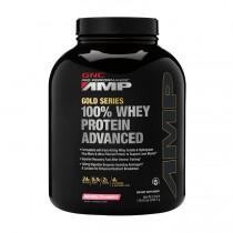 GNC AMP Gold Series 100% Whey Protein Advanced, Proteina din Zer, cu Aroma de Capsuni, 2242.5g