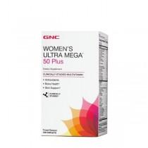 GNC Women's Ultra Mega® 50 Plus, Complex de Multivitamine pentru Femei, 120 tb
