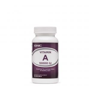 GNC Vitamin A 10000 IU, Vitamina A 10.000 UI, 100 cps