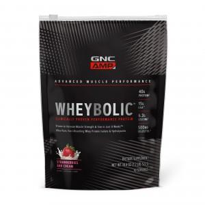 GNC AMP Wheybolic™, Proteina din Zer, cu Aroma de Capsuni, 522 g