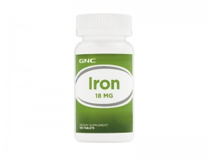 GNC Iron 18 mg, Fier, 100 tb