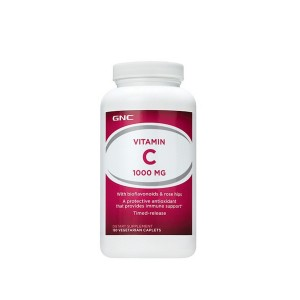 GNC Vitamina C 1000 Mg cu Bioflavonoide si Eliberare Prelungita, 180 tb