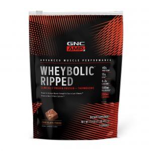 GNC AMP Wheybolic™ Ripped, Proteina din Zer, cu Aroma de Ciocolata, 493.2 g