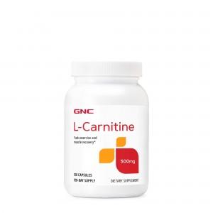 GNC L-Carnitine 500mg, L-Carnitina, 120 Cps