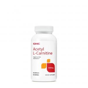 GNC Acetyl-L-Carnitine 500 mg, Acetil L-Carnitina, 60 cps