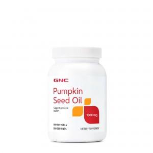 GNC Pumpkin Seed Oil 1000 mg, Ulei din Seminte de Dovleac, 100 cps