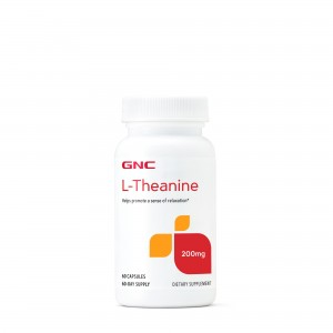 GNC L-Theanine 200mg, L-Teanina, 60 Cps