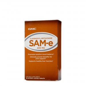 GNC SAM-e 400 mg, S-Adenozil-Metionina SAM-e, 30 tb