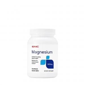 GNC Magnesium 500 mg, Magneziu, 120 cps
