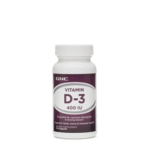 GNC Vitamin D-3 400 IU, Vitamina D-3 Colecalciferol 400 UI, 100 tb